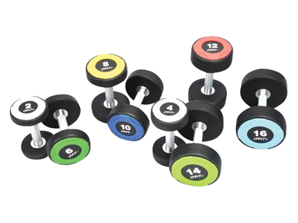 Round Steel Rubber Dumbbell